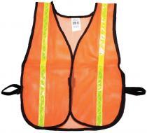 Orange Soft Mesh Safety Vest - 1inch Lime
