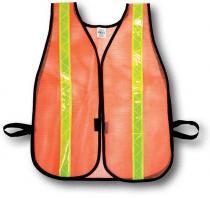Orange Soft Mesh Safety Vest - 1-3/8inch Lime