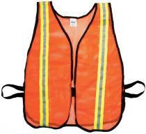 Orange Soft Mesh Safety Vest - 1-1/2inch Lime/Silver/Lime