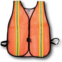 Heavy Weight Safety Vest - 1-1/2inch Lime/Silver/Lime -16301