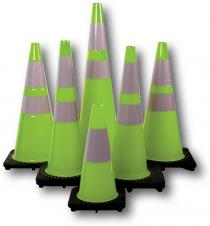 Traffic Cone Lime 18Inch