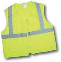 CL2 Lime Solid Non Durable Flame Retardant Vest