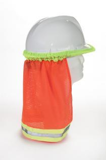 ANSI Orange Mesh Hard Hat Neck Shade w/Reflective